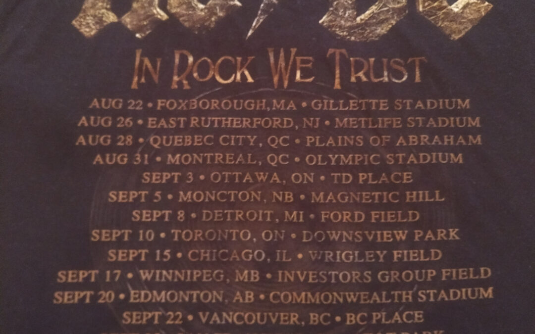 Concert Retrospective #5- AC/DC (Sept 3, 2015)